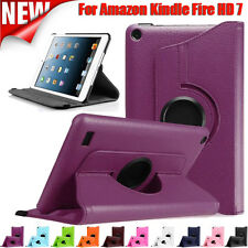 360° Rotating Leather Stand Case Cover For Amazon Kindle Fire HD 7 2015 Tablet