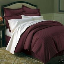 King/ CalKing Hotel Feel 600TC 100% Combed Cotton Sateen Striped Duvet Cover Set