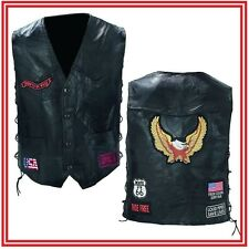 vest Leather for biker patch eagle - NEW - Leather vest eagle for biker NEW