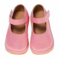 Girl's Leather Toddler Pink Sparkle Mary Jane Squeaky Shoes Sizes 1 to 7