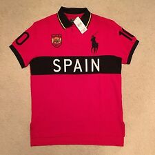 Polo Ralph Lauren Custom Fit Spain Polo Shirt - Red Size S - XXL RRP: €135.00