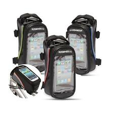 """Bike Cycling Frame Pannier Front Tube 4.8/5.5"""" Cell Phone Case Bag Pouch"""