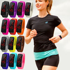 Silicone Digital LED Sports Watch Unisex Band Wrist Watches Men Women
