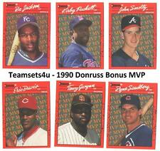 1990 Donruss Bonus MVP Baseball Set ** Pick Your Team **