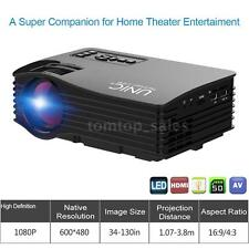 UNIC UC36 Full HD 1080P LED LCD HDMI TV AV SD Home Theater Projector Cinema I7F0