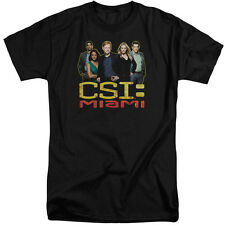 Csi Miami The Cast In Black Mens Big and Tall Shirt