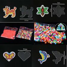 Clear ABC Pegboard for DIY Hama Fuse Beads Accessories Ten Pattern Kid Craft