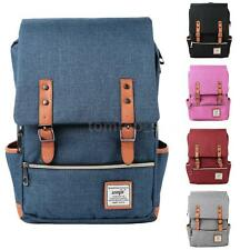 Women Girl Canvas Laptop Bag Travel Backpack SchoolBag Shoulder Bag Satchel A3H5