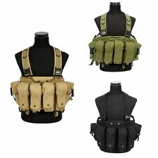 NEW Tactical Military Airsoft Paintball Chest Rig Vest with Magazine Pouch Tan