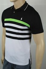 Polo Ralph Lauren Performance Black Green White Pony Shirt NWT