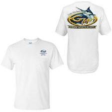 Grady White Boats Short Sleeve 100% Cotton Marlin Design Pocketed T-Shirt