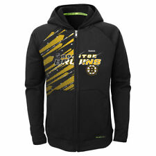 Reebok Boston Bruins Youth Black TNT PlayDry Full Zip Hoodie - NHL