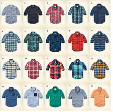 NWT Hollister by Abercrombie Plaid Shirt Poplin Brushed Cotton Oxford S/M/L/XL