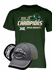 Baylor Bears 2014 Big 12 Football Champions Locker Room Hat and Shirt Pack