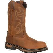 "Rocky 2809 Original Ride 8"" Branson Steel Toe Waterproof Western Pull On Boots"