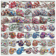 5 OR 10 Yards 7/8'' 1'' Colours Printed Grosgrain Ribbon Cute Clips Bows DIY DC