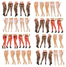 5 Pair LOT Plus Size SHEER CROTCHLESS PANTYHOSE Nylon OPEN CROTCH Open Back