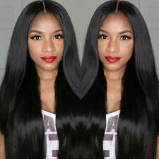 100% Indian  Silk Straight Remy Human Hair Lace Front /Full Lace Wig Baby Hair
