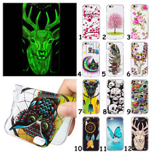 Slim Glow Flower Owl Deer Soft TPU Silicone Back Case Cover For Samsung Galaxy