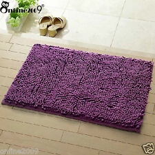 Memory Soft Shaggy Nonslip Absorbent Bath Mat Bathroom Shower Rugs Carpet Purple