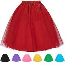 Retro Vintage Womens Short Layered Petticoat Underskirt Tulle Layered Tutu Skirt