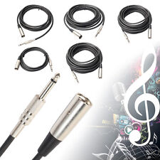 """3-25ft 3-Pin XLR Male to 1/4"""" Mono Plug Shielded Microphone Mic Audio Cord Cable"""