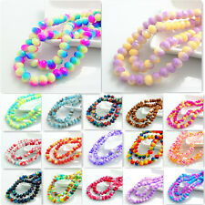 Beautiful 80pcs Rondelle Faceted Crystal Glass Loose Spacer Beads 8mm( 248color)