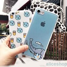 For iPhone 7 7 Plus 6 6S 5SE Cute Cool Soft Drink Elephant Matte Hard Case Cover