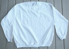 LOT of 10 White Fruit of Loom cotton polyester blend sweatshirts long sleeve NEW