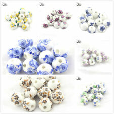 10pcs Wholesale Jewelry Making DIY Round Shape Spacer Porcelain Craft Beads 10mm