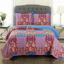 Full/Queen Kenzy Oversized Reversible Print Wrinkle Free Microfiber Coverlet