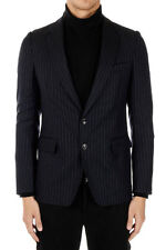 DRIES VAN NOTEN New Men Blue Single Breasted Pinstripe Wool Blazer NWT