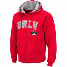 Stadium Athletic UNLV Rebels Red Arch & Logo Full Zip Hoodie