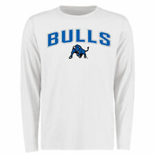 Buffalo Bulls White Proud Mascot Long Sleeve T-Shirt - - College