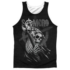 Sons Of Anarchy Somcro Reaper Mens Sublimation Polyester Tank Top Shirt WHITE