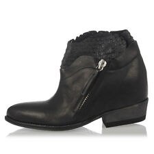 CINZIA ARAIA Woman New Black Leather Ankle Boots Made in Italy Original