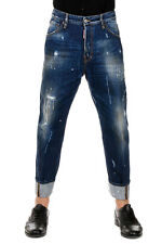 DSQUARED2 Dsquared² New Men Blue DESTROYED Denim Pants Jeans WORK WEAR Mad Italy