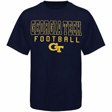 Georgia Tech Yellow Jackets Frame Football T-Shirt - Navy Blue