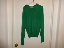 Vintage Men's Izod Lacoste Green Pull over Sweater Size M - preowned