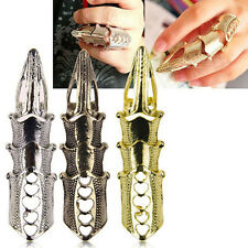 New Unique Punk Rings Rock Scroll Joint Armor Knuckle Metal Full Finger Claw