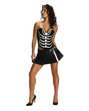 Women's Sexy Adult Skeleton Corset and Skirt Costume