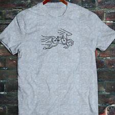 CYCLING HORSE BIKE ROAD MOUNTAIN BICYCLE RACE Mens Gray T-Shirt