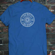 BICYCLE TRUE WHEELS BIKE CYCLING ROAD MOUNTAIN Mens Blue T-Shirt