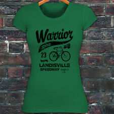 BICYCLE WARRIOR SPIRIT BIKE CYCLING ROAD MOUNTAIN Womens Green T-Shirt