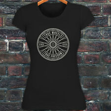 BICYCLE TRUE WHEELS BIKE CYCLING ROAD MOUNTAIN Womens Black T-Shirt