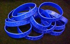 Dark Blue IMPERFECT Bracelets 50 Piece Lot Silicone Wristband Cancer Cause New