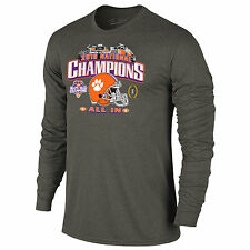 Clemson Tigers 2016 College Football Nat'l Champions All In Stadium LS T-Shirt