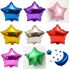 "New 10Pcs 5""Foil Star Balloons Helium Birthday Party Wedding Supplies Decoration"