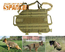 Tactical Military Army Molle Police K9 Dog Vest Harness Canine Training Vest CB