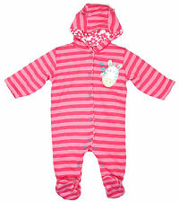 Girls Baby Padded Zebra Hooded Snowsuit Newborn to 12 Months CLEARANCE SALE